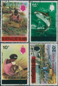 Gilbert Islands 1976 SG15-18 Weaving Shark Leaf FU