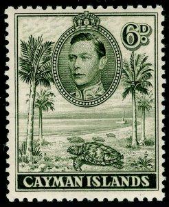 CAYMAN ISLANDS SG122, 6d olive-green, NH MINT. Cat £15.