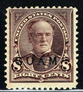 [FE]   1899 Guam Island Scott #7 Mint-NH ~ US Admin. Overprint ~ 8c Violet Brown
