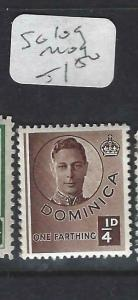 DOMINICA (PP1903B)  KGVI  1/4 D  SG 109      MOG