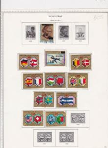 honduras issues of 1975/76 stamps sheet ref 17796