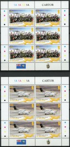 St Helena Aviation Stamps 2018 MNH Airport Project III Helicopters 4x 6v M/S