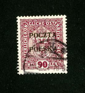 Poland Stamps # 90 XF used rare Scott Value $1,000.00