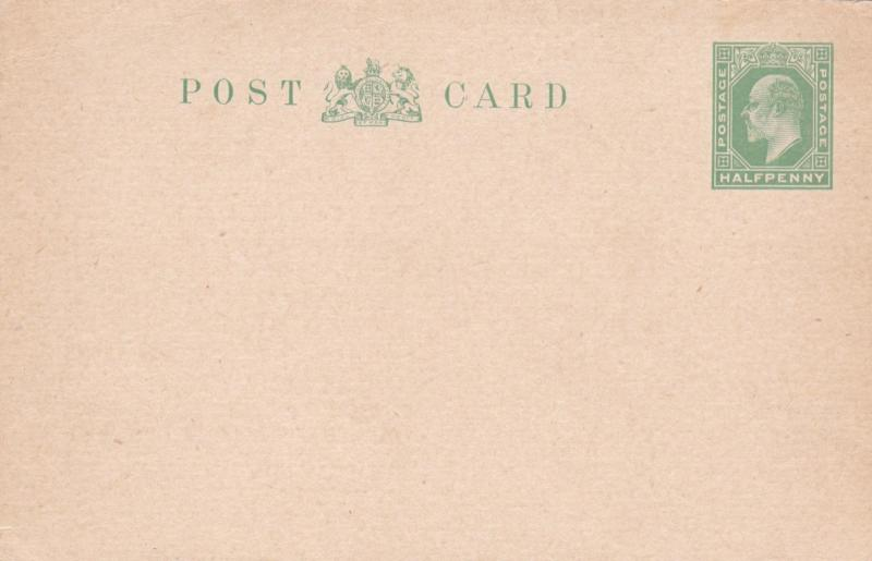 King Edward VII 1/2d Prepaid Postcard Unused VGC