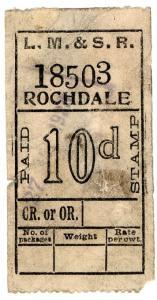 (I.B) London Midland & Scottish Railway : Parcel 10d (Rochdale)
