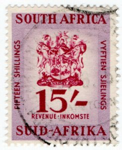 (I.B) South Africa Revenue : Duty Stamp 15/-