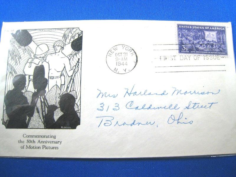 U.S. FDC - SCOTT # 926 - MOTION PICTURES