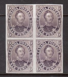 Canada #2TC Extra fine Proof Block On India Paper Red Lilac Shade