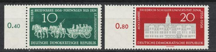 East Germany - 1958 Stamp Day Sc# 408/409 - MNH (8916)