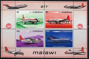 MALAWI, 185A, MNH, SS OF 4, AIR ISSUE