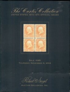 CURTIS UNITED STATES 1873-1879 OFFICIAL CATALOG 2014, SIEGEL AUCTIONS