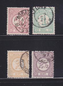 Netherlands 34-37 U Numerals