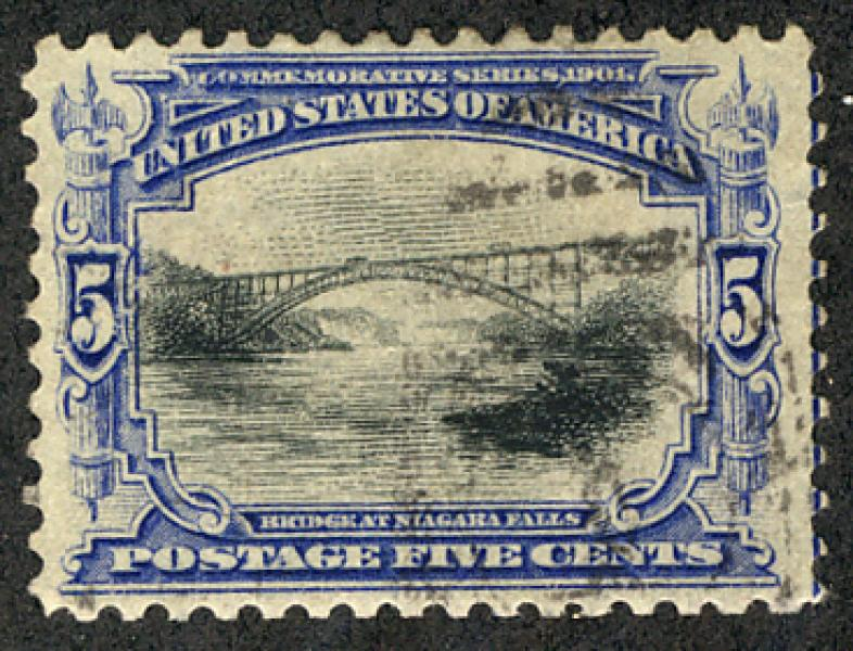 US #297 SCV $380.00 XF-SUPERB, barely canceled, super fresh stamp, appears to...