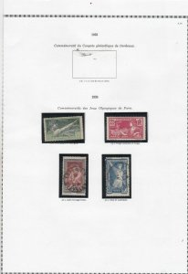 france 1924-26 stamps page ref 19848