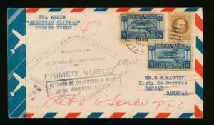 CUBA (US) 1931 FIRST FLIGHT COVER TO JAMAICA
