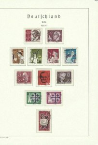 GERMANY BERLIN 1959- 1965 REMANANTS PART SETS FOR THIS HIGH CAT VALUE PERIOD