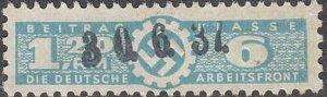 Stamp Germany Revenue WWII Fascism War Era War DAF LC 120 6 Used