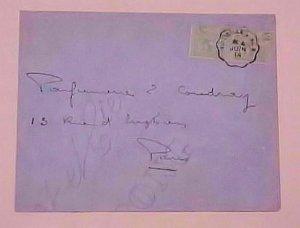 MONACO  COVER  TPO VINTIMILLE A NICE 1914 B/S PARIS