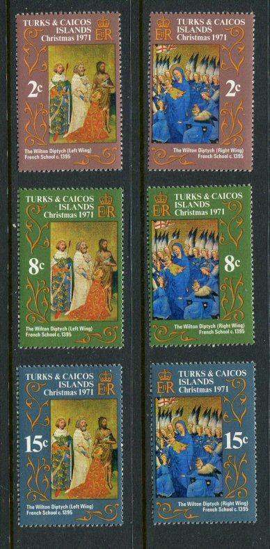 Turks & Caicos #240-5 MNH
