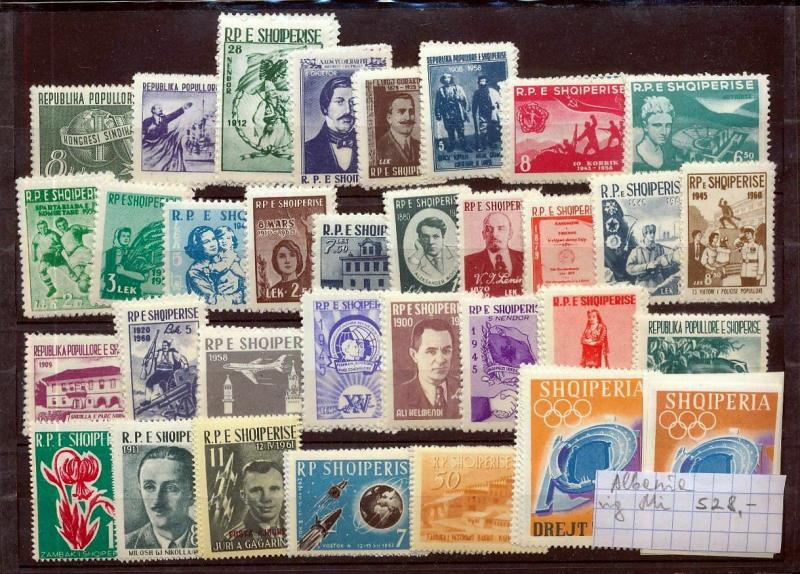 ALBANIA 1960s MNH Sets Sheets Space Flowers Olympics (Appx 150)KM 842