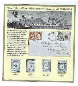2002 Hawaii Missionary Sheet Of 4 37c Postage Stamps - Sc# 3694, MNH, OG - CW73