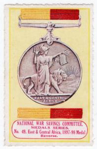 (I.B) Cinderella : National War Savings (Medals Series 49) Africa