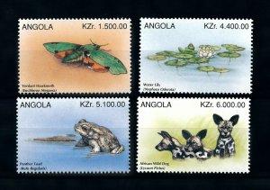 [101615] Angola 1996 Flora fauna moth toad wild dog  MNH