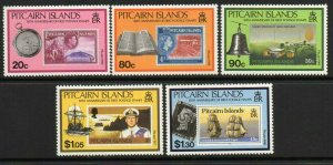 PITCAIRN ISLANDS SG380/4 1990 50th ANNIV OF PITCAIRN ISLANDS STAMPS MNH