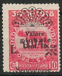 47728 - ITALIA : FIUME  - VARIETA' - Sassone Segnatasse 26g LINGUELLATO