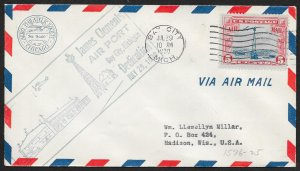 UNITED STATES C11 on Event Cover Airport Dedication c1930 Bay City