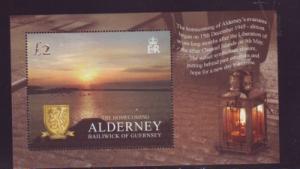 Alderney Sc 262 2005 Homecoming stamp sheet mint NH