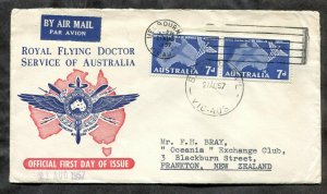 d231 - AUSTRALIA 1957 FDC Cover. Royal Flying Doctor Service