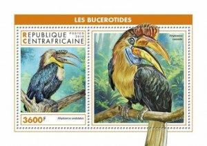 HERRICKSTAMP NEW ISSUES CENTRAL AFRICA Hornbills S/S