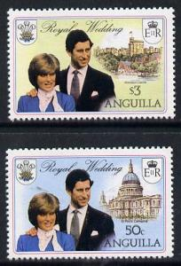 Anguilla 1981 Royal Wedding set of 2 each with double bla...