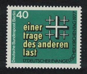 Berlin 17th Evangelical Churches Day 1977 MNH SG#B532