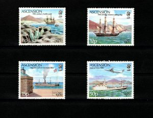 ASCENSION - 1980 - MAIL TRANSPORT - SHIPS - LONDON 80 - 4 X MINT - MNH SET!