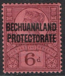 BECHUANALAND PROTECTORATE 1897 QV GB 6D