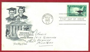 FDC SC# 1206, HIGHER EDUCATION IN THE US  4c  1962 (43)  SEE SCAN