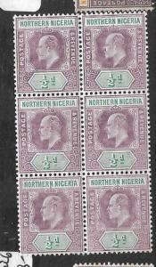 NORTHERN NIGERIA (P1309B) KE  1/2D SG 20A BL OF 6  MNH