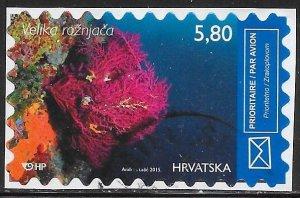 Croatia C5b Used - Marine Life - Violescent Sea-whip (Paramuricea clavata)