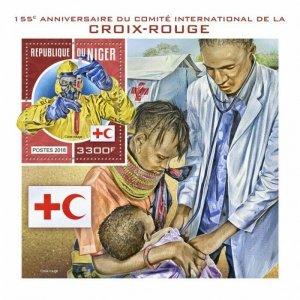 HERRICKSTAMP NEW ISSUES NIGER Red Cross S/S
