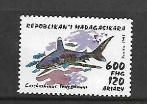 MALAGASY REPUBLIC, 1284, MINT HINGED, SHARKS