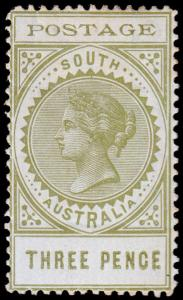 South Australia Scott 121 (1902) Mint H F-VF, CV $17.50 M