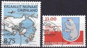 Greenland #424-5 F-VF Used  CV $7.25  (Z8083)