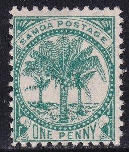 UK British Colonies & Territories SAMOA STAMP 1886 -1899 Palms ONE P. UNUSED/NG
