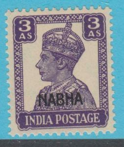 INDIA NABHA 107 MINT NEVER HINGED OG ** NO FAULTS EXTRA FINE !