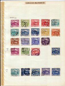 Czechoslovakia 1918/38 Used on 10 Pages Imperf Perf (Apprx 180 )(ZA 478