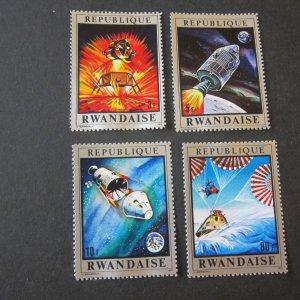 Rwanda Sc 397-80 space set MNH