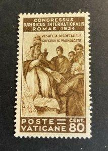 Vatican City Sc# 45 Mint No Gum MNG - 1934 Juridical Congress (1935) Cv $55