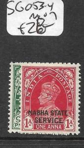 INDIA NABHA (P3009B) KGVI   SERVICE SG 035-653-4    MOG